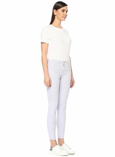 Frame Denim Yüksek Bel Skinny Jean Pantolon Lila